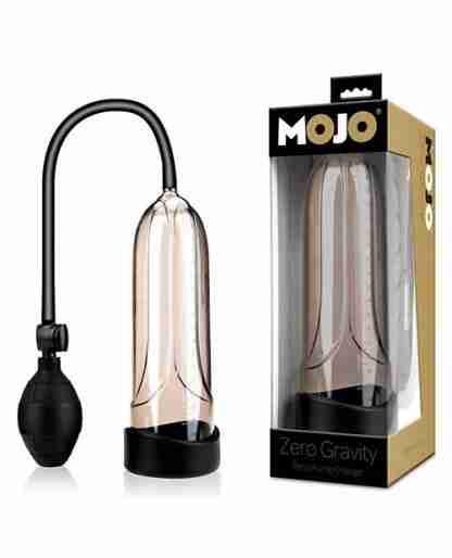 Mojo Zero Gravity Penis Pump Enlarger - Black/Smoke