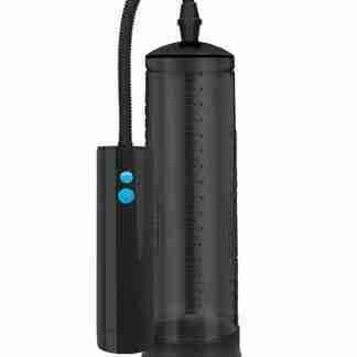 Shots Pumped Rechargeable Extreme Power Pump w/Free Silicone Cock Ring - Black