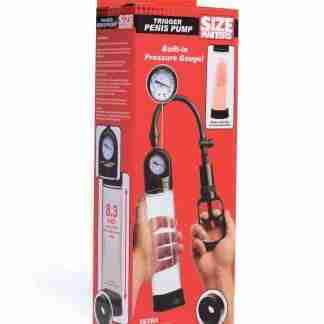 Size Matters Trigger w/Pressure Gauge Penis Pump - Clear