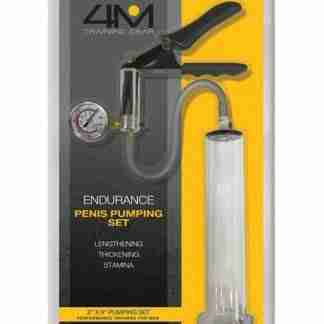 "4M Training Gear Endurance 2"" X 9"" Penis Pumping Set - Clear"
